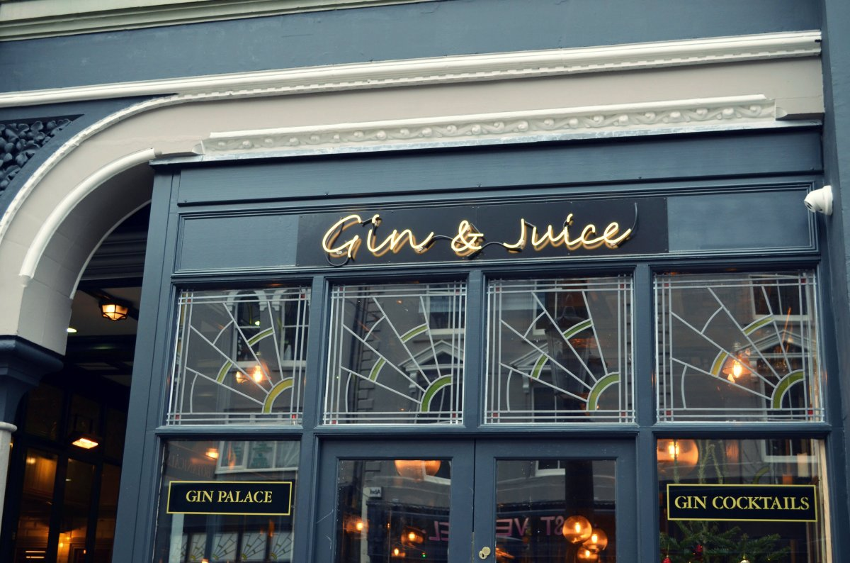 What I did: Gin and Juice and Christmas Shopping