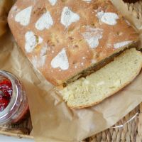Halloumi Bread with Fig Jam