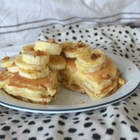Banana and Custard Filled Pancakes