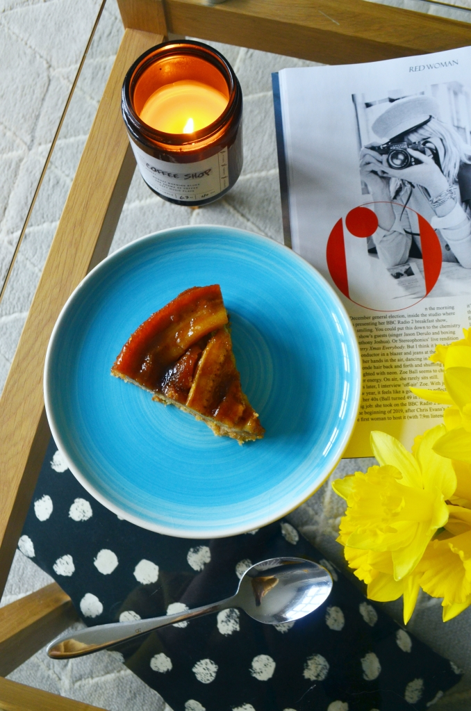 Sticky Banana Caramel Upside Down Cake - The Cardiff Cwtch