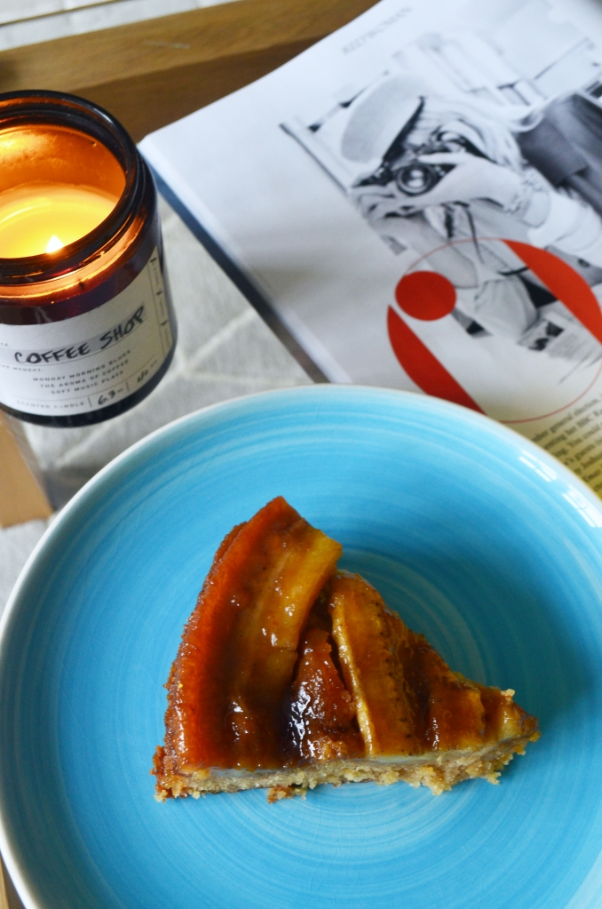 Sticky Banana Caramel Upside Down Cake - The Cardiff Cwtch - Cardiff Bloggers