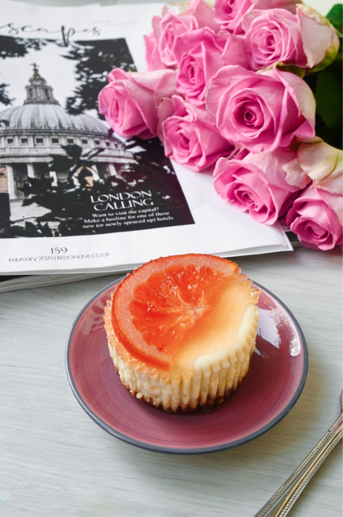 Mini Blood Orange Cheesecakes - Valentines Day Bakes - The Cardiff Cwtch