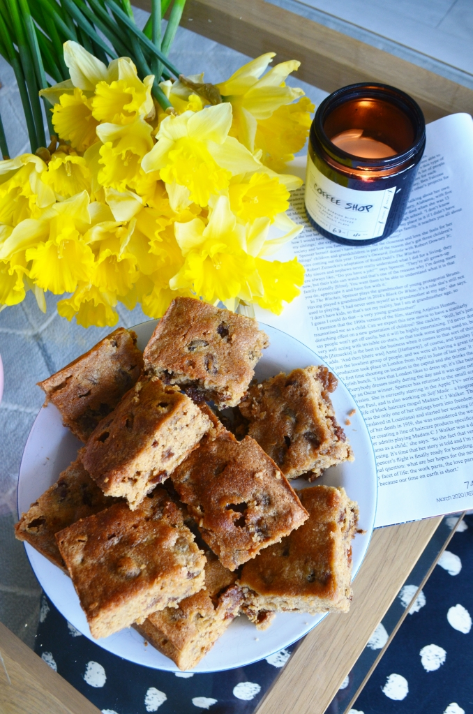 Bara Brith Blondies Recipe - Welsh Food and Drink - The Cardiff Cwtch