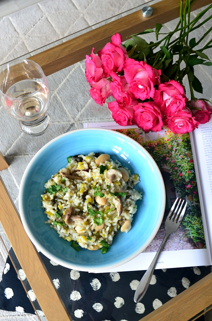 Easy Leek and Mushroom Risotto - The Cardiff Cwtch - Lockdown Lunches