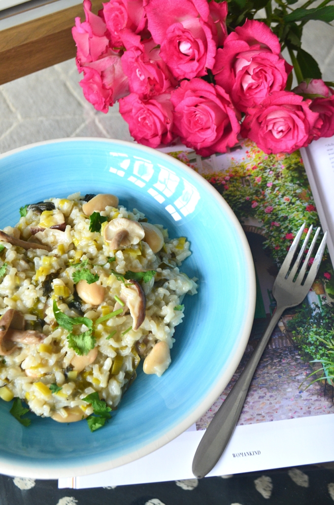 Easy Leek and Mushroom Risotto - The Cardiff Cwtch - Lockdown Lunches - Meal Planning