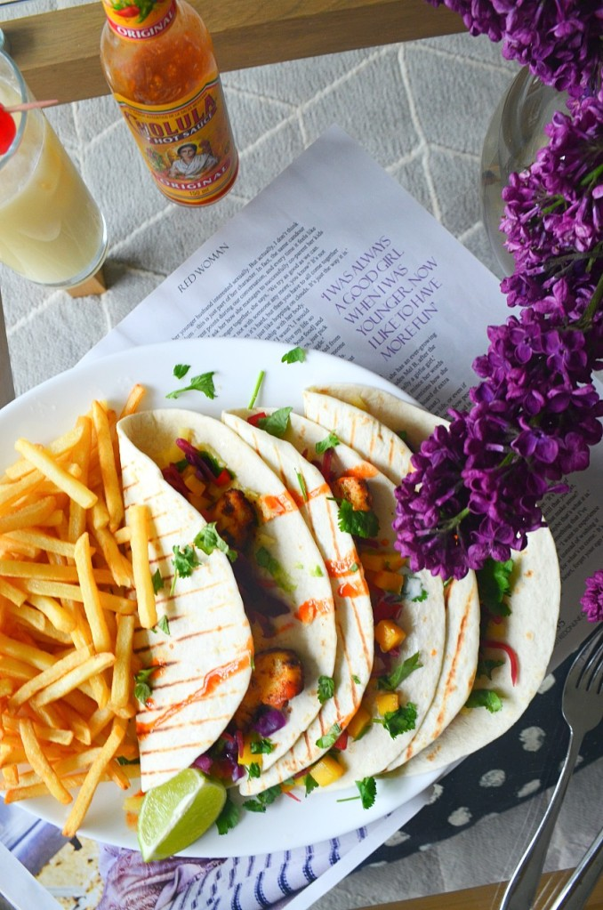 Blackened Halloumi Tacos with Mango Salsa - The Cardiff Cwtch - Lockdown Lunches