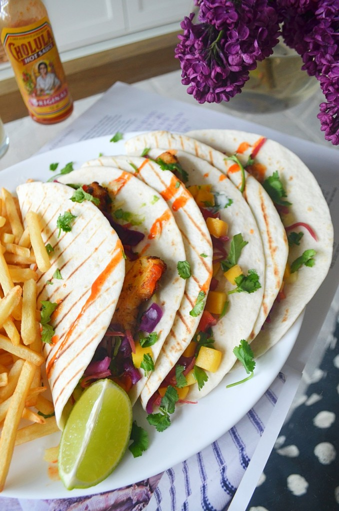 Blackened Halloumi Tacos with Mango Salsa - Easy Veggie Tacos - The Cardiff Cwtch - Welsh Food Bloggers