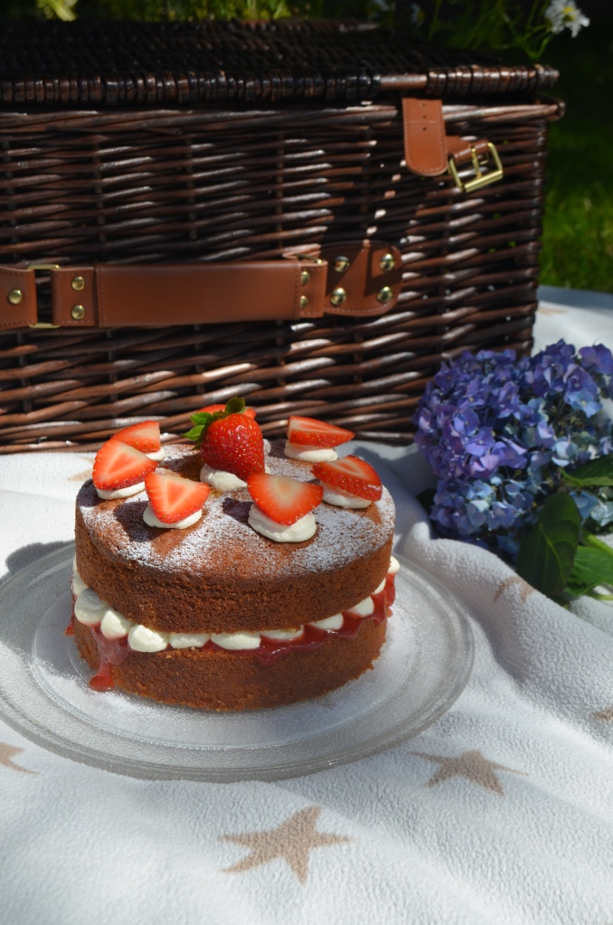 Classic Picnic Perfect Victoria Sponge Cake - The Cardiff Cwtch - Easy Bakes