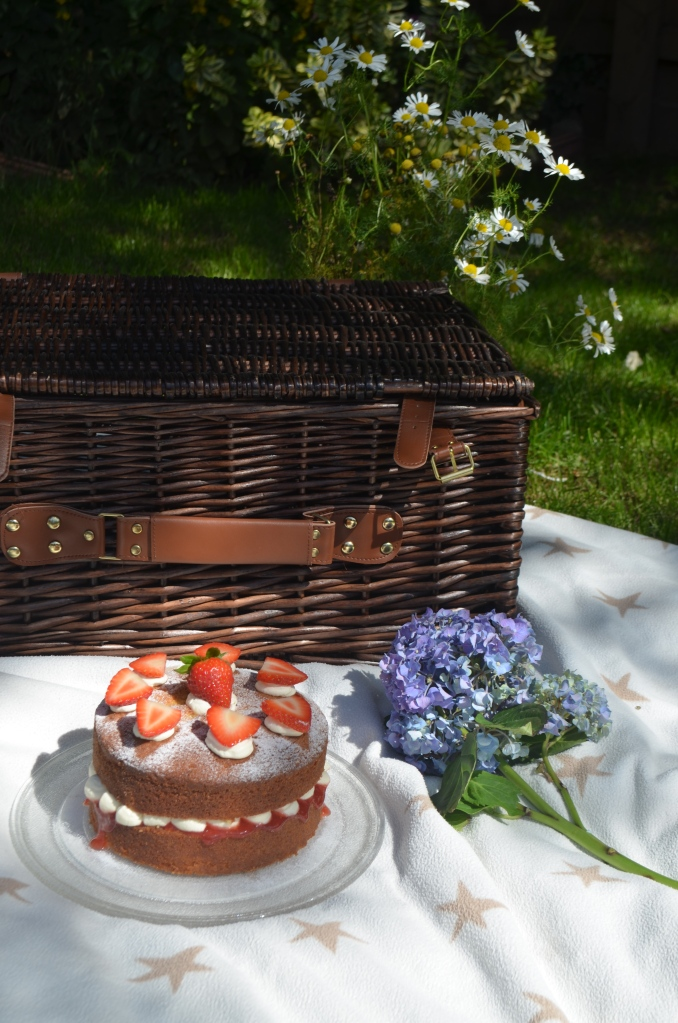 Classic Picnic Perfect Victoria Sandwich Cake - The Cardiff Cwtch - Welsh Food Bloggers