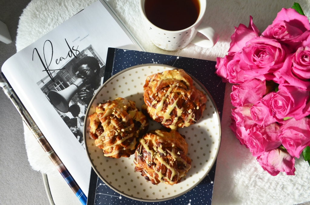 Apple filled Cinnamon Buns - The Cardiff Cwtch - Cardiff Food Bloggers